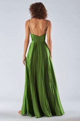 Long green dress with ruffles - Amur - Rent Drexcode - 2
