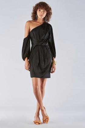 One shoulder dress with off-shoulder sleeves - Amur - Rent Drexcode - 1