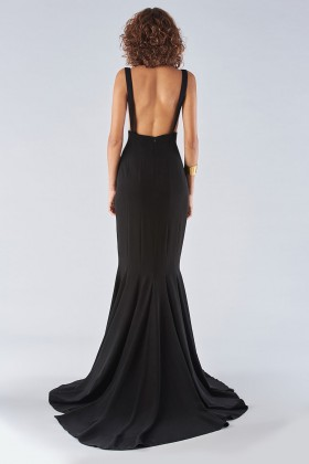 Black mermaid dress with a neckline - Fely Campo - Rent Drexcode - 2