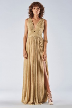 Braided glitter gold dress - Iris Serban - Rent Drexcode - 2