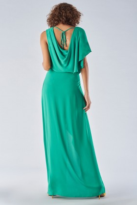 Green dress with slit - Halston - Rent Drexcode - 2