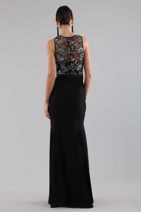 Mermaid style dress with a particular corsage - Theia - Rent Drexcode - 1