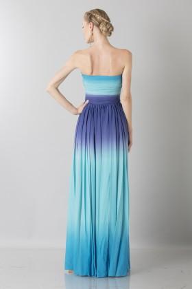 Blue degraded bustier dress  - Ports 1961 - Sale Drexcode - 2