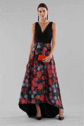 Dress with asymmetric patterned skirt  - Theia - Rent Drexcode - 1