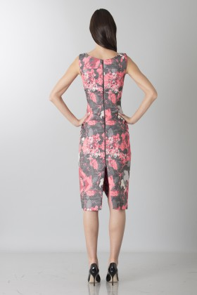 Fuchsia dress with geometric panels - Antonio Berardi - Rent Drexcode - 2