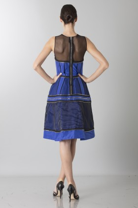 Crepe silk dress with zip - Jean Paul Gaultier - Rent Drexcode - 2