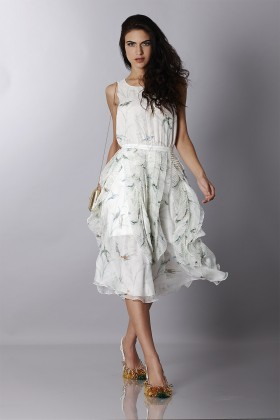 Embroidered silk dress  - Rochas - Rent Drexcode - 1