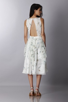 Embroidered silk dress  - Rochas - Rent Drexcode - 2