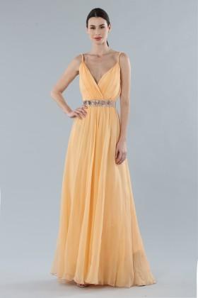 Peach chiffon dress - Alberta Ferretti - Rent Drexcode - 2