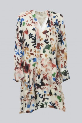 Short dress with colourful velvet inserts - Alice+Olivia - Rent Drexcode - 2