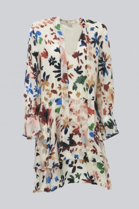 Short dress with colourful velvet inserts - Alice+Olivia - Rent Drexcode - 1