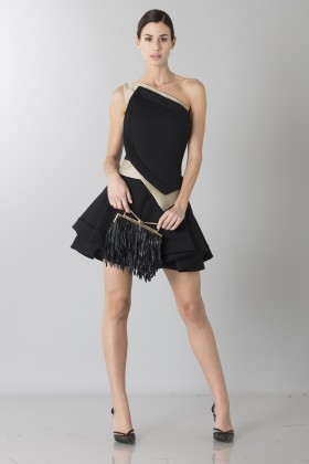 Two-tone sleeveless dress with rouches - Antonio Berardi - Sale Drexcode - 1