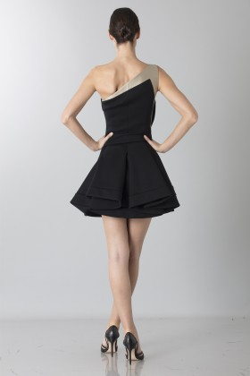 Two-tone sleeveless dress with rouches - Antonio Berardi - Sale Drexcode - 2