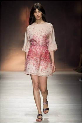 Silk organza dress with floral printing - Blumarine - Sale Drexcode - 2