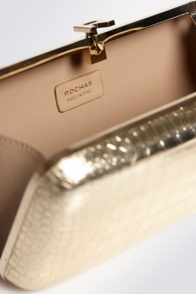 Gold clutch - Rochas - Rent Drexcode - 2