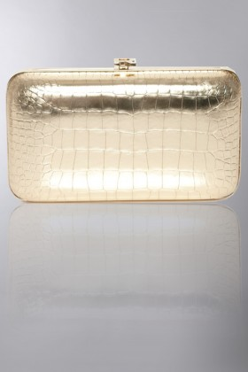 Gold clutch - Rochas - Rent Drexcode - 1