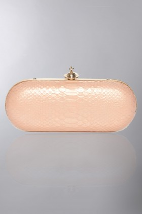 Pink leather clutch  - Vivienne Westwood - Rent Drexcode - 1
