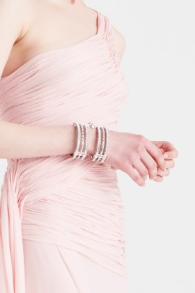 Silver cuff with rhinestones - CA&LOU - Sale Drexcode - 2