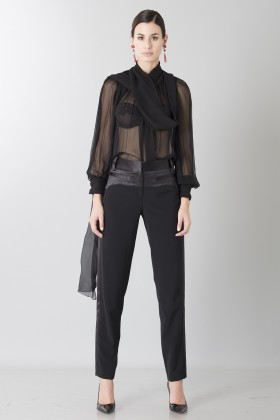 Camicia nera in seta - Blumarine - Sale Drexcode - 2