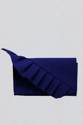 Blue clutch with ruffles - Chiara Boni - Sale Drexcode - 1