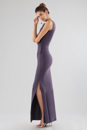 Plum dress with drapery - Chiara Boni - Sale Drexcode - 2