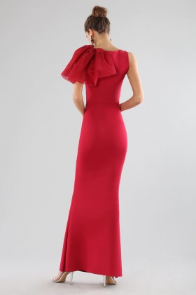 Cherry dress with side ruffles - Chiara Boni - Rent Drexcode - 2