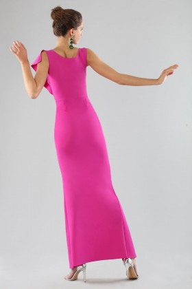 Fuchsia dress with ruffles - Chiara Boni - Rent Drexcode - 2