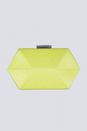 Geometric lemon clutch with rhinestones - Anna Cecere - Sale Drexcode - 2