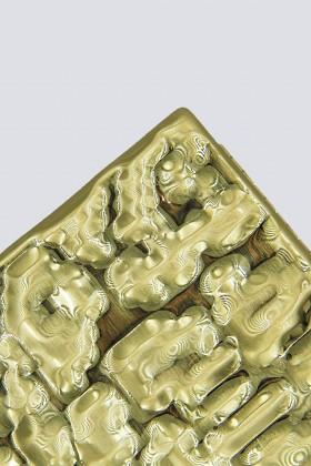 Rigid golden clutch - Anna Cecere - Sale Drexcode - 1