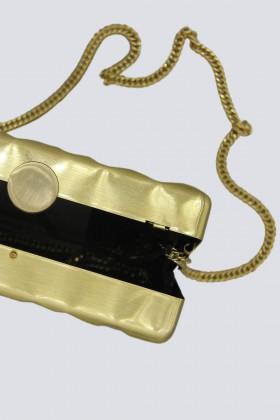 Rigid golden clutch - Anna Cecere - Sale Drexcode - 2