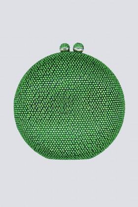 Round green clutch with rhinestones - Anna Cecere - Sale Drexcode - 1