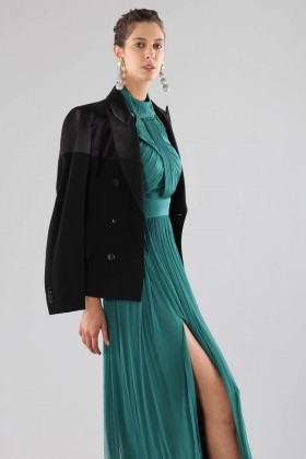 Green dress with halter neck - Cristallini - Rent Drexcode - 1