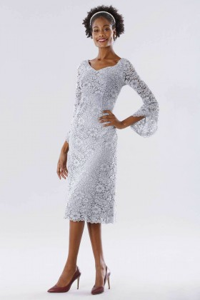 Longuette lace dress with long sleeves - Daphne - Rent Drexcode - 1