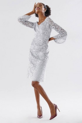 Longuette lace dress with calla sleeves - Daphne - Sale Drexcode - 2