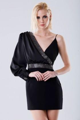Short one-shoulder dress with rhinestones - Doris S. - Rent Drexcode - 1