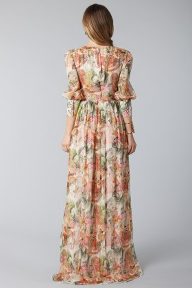 Flower dress with sleeves - Piccione.Piccione - Rent Drexcode - 2