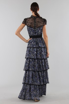 Blue dress with overlapping frills - Alice+Olivia - Rent Drexcode - 2