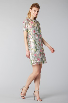 Short dress with flower and sequin embroideries  - Piccione.Piccione - Rent Drexcode - 2