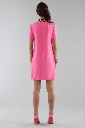 Fuchsia short dress with sequin collar - Emilio Pucci - Rent Drexcode - 2