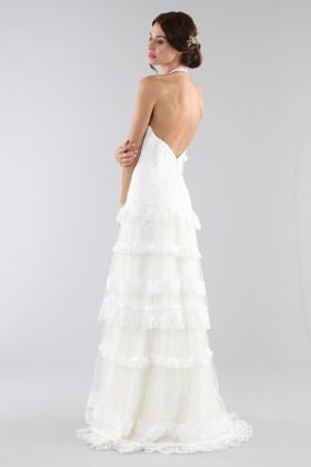 Lace wedding dress with american collar - Ilenia Sweet by Bellantuono - Rent Drexcode - 2