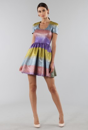 Multicolored glitter dress - Marco de Vincenzo - Rent Drexcode - 2
