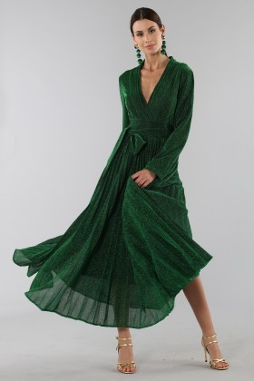 Green glittery long-sleeved dress - Alcoolique - Rent Drexcode - 1
