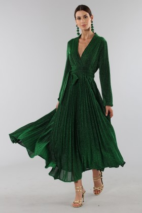 Green glittery long-sleeved dress - Alcoolique - Rent Drexcode - 2