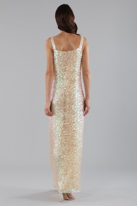 Dress in silver and gold sequins - Alcoolique - Rent Drexcode - 2