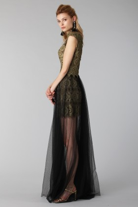 Lace dress with tulle skirt - Catherine Deane - Rent Drexcode - 2