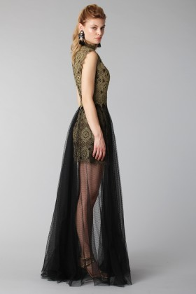 Lace dress with tulle skirt - Catherine Deane - Rent Drexcode - 1