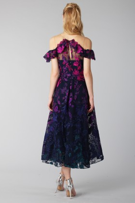 Longuette dress with transparent neckline - Marchesa Notte - Rent Drexcode - 1