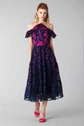 Longuette dress with transparent neckline - Marchesa Notte - Rent Drexcode - 2