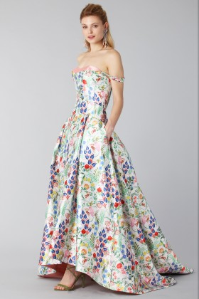 Long dress with contrasting bodice - Tube Gallery - Rent Drexcode - 2