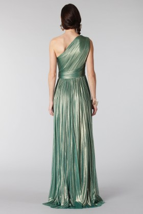 Glittery green single-shoulder dress - Cristallini - Rent Drexcode - 2